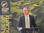 Silver Ferns Farms chairman Rob Hewitt (right) and chief executive Dean Hamilton (pictured) are confident of getting the Shanghai Maling deal over the line.