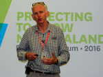 James Trevelyan speaking at the recent BioSecurity Forum.