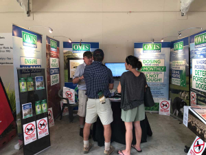 Talking sheep measles with Ovis at the East Coast Farming Expo earlier this year.