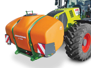 Amazone's new FT1502 front-mounted auxiliary tank.