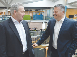 Fonterra chairman John Monaghan and chief executive Miles Hurrell.