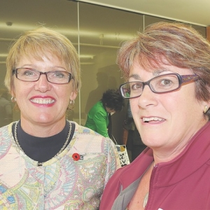 Jo Goodhew and teacher Cheryl Robb.