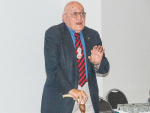 Sir Tipene O'Regan speaks at the NZIAHS Water in Canterbury forum held recently at Lincoln. Rural News Group.