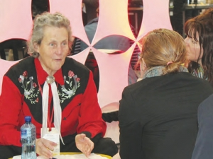 Dr Temple Grandin at the NZ Vet Association conference in Hamilton.