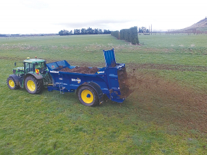 West Maelstrom rear discharge spreader.