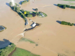 Floods are ravaging Southland-South Otago. Photo: High Country Helicopters/Facebook.