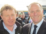 Fonterra chair John Wilson and PM John Key at Fieldays.