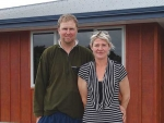 Ashburton sharemilkers Sara and Stuart Russell.