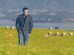 Kurt Portas, of Palliser Ridge, wears one of the new M&S range of lambswool blazers.