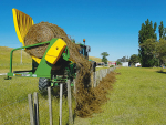 Feeding round balage over fences can save labour costs.
