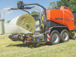 Kuhn's VBP 3100 series baler-wrappers can now be equipped with film binding systems.