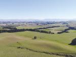 A drone shot of land near Waikari, North Canterbury, which is targeted by the latest irrigation plan for the district. Supplied/AIC.