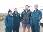 Handy Landys (from left), Sophie Gualter, Tessa Schmidt, Oscar Beattie and team leader Matty Rissi ready for work.