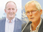 Andrew Morrison, chair of Beef + Lamb NZ (left) and Jim van der Poel, chair of DairyNZ.