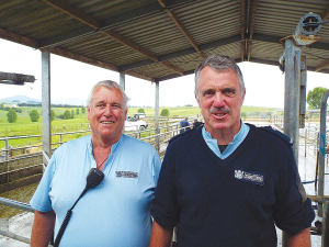 Waikeria Prison manager of industries Stuart Morgan (right) and head of farm operations Pete Watson.