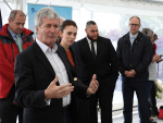 Agriculture Minister Damien O'Connor and Prime MInister Jacinda Ardern at Cawthron Institute for the announcement of Government support for research into the potentially methane-busting seaweed Asparagopsis.  SUPPLIED/CAWTHRON