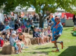 A clown entertains the crowd at the Wanaka A&P show.