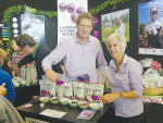 Tony and Afsaneh Howey take their organic blackcurrant business, ViBERi, to the public at the recent Go Green expo in Christchurch. Photo: Rural News Group.