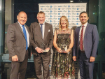 Syngenta Australasia head Paul Luxton, with joint productivity category winners Murray Turley (NZ) and Lynley Anderson (WA), as well as Syngenta regional director of APAC Alex Berkovskiy. SUPPLIED