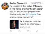 Columnist facing calls to apologise to Wilson's family