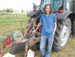 Angela Taylor is one of two women competing at this year's New Zealand Ploughing Championships.